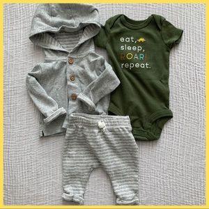 Newborn 3-Piece Outfit Set Onesie, Pants, Jacket